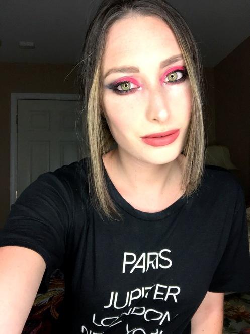 Punk rock makeup using Kat Von D