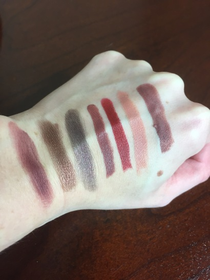 Colourpop 90s swatches