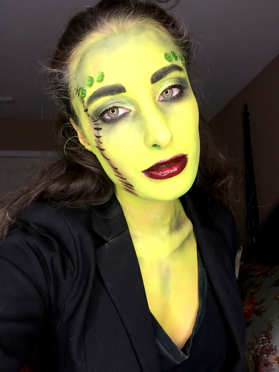 frankenstein makeup happy halloween