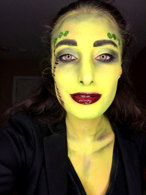 close up frankenstein makeup look