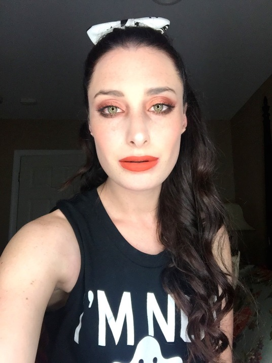 orange fall makeup look
